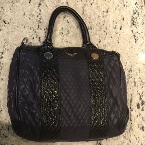 Jill Stuart Navy and Black Patent Leather Bag